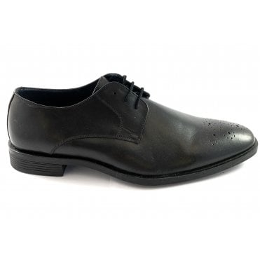 Cameron Black Leather Lace-Up Shoe