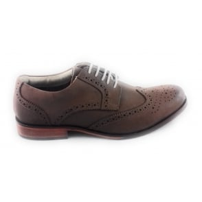 Canning 80114 Tan Leather Lace-Up Brogue Shoe