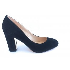 Carla Black Microfibre Court Shoe