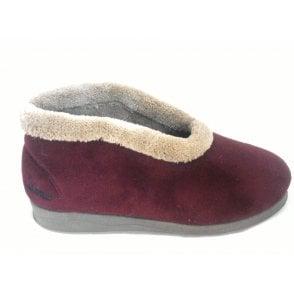 Carley Burgundy Boot Slipper
