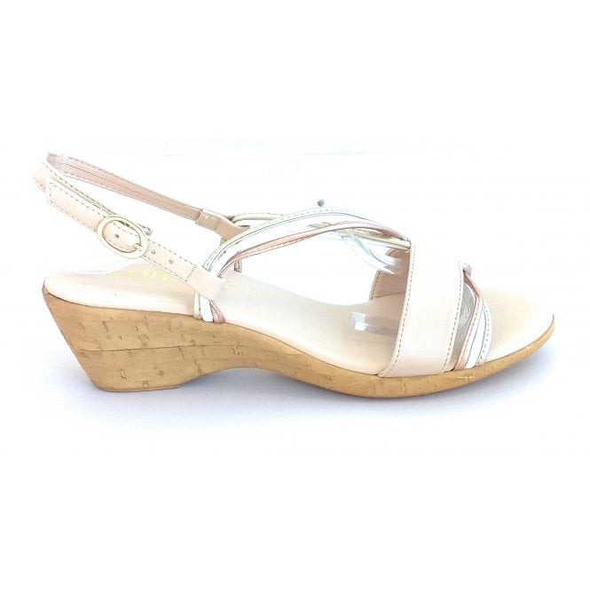 Lotus Carrara Nude Open-Toe Sandal