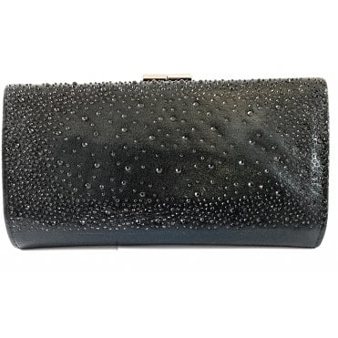 Chandra Black Diamanté Occasion Bag