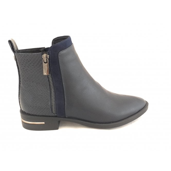 Lotus Charlie Navy Ankle Boots