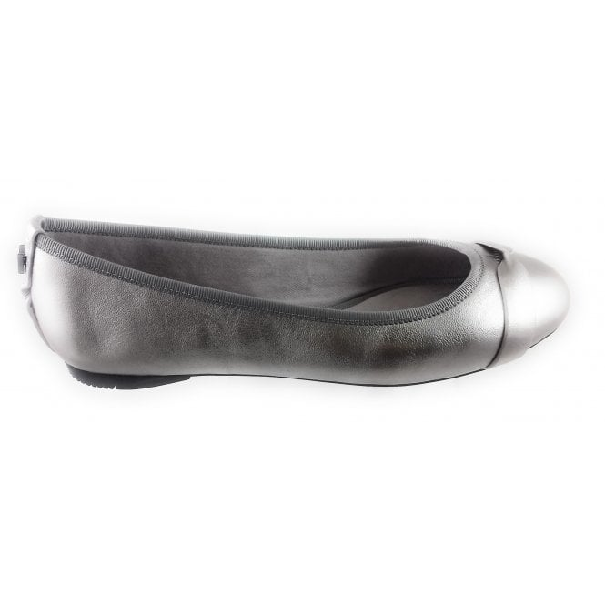 Butterfly Twists Charlotte Pewter Leather Ballerina Pump