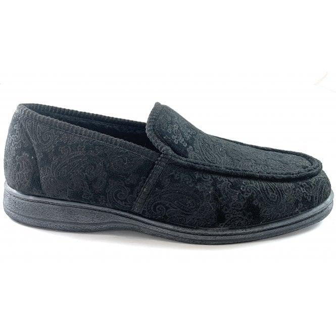 Goodyear Cherwell Mens Black Slippers