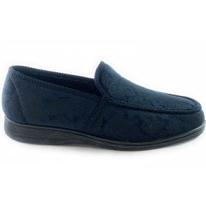 Cherwell Mens Navy Slippers