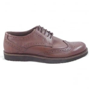 Chesham Brown Leather Lace-Up Brogue Shoe