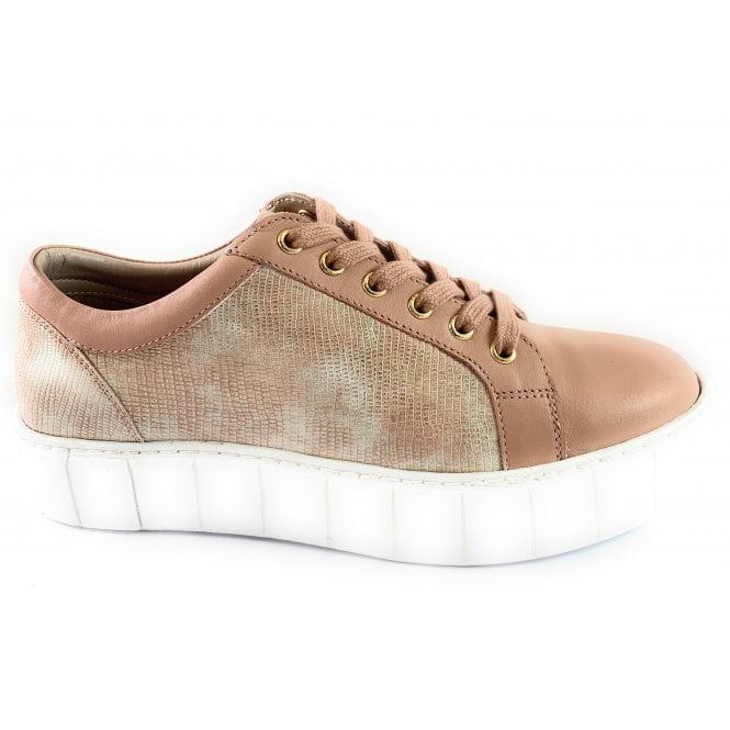 Lotus Chicago Pink Leather Lace-Up Casual Shoe