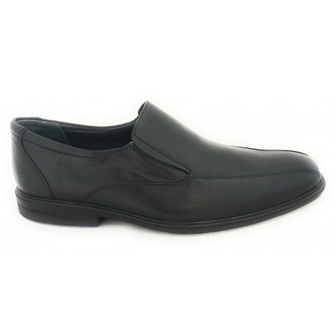 Lotus Chiltern Men's Black Leather Loafer