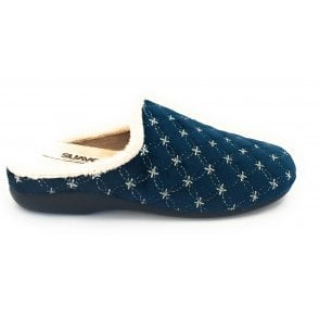 Chinela Navy Mule Slipper