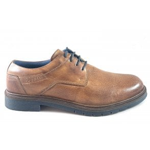 Ciriaco Cognac Leather Lace-Up Shoe
