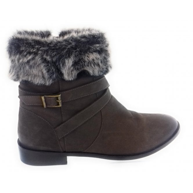 Lunar Clarity Taupe Leather Ankle Boot
