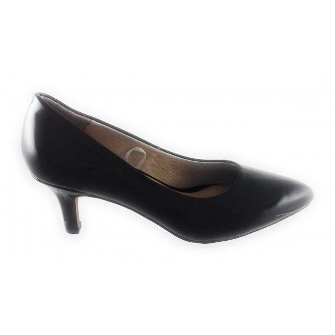 Lotus Clio Black Patent Court Shoe
