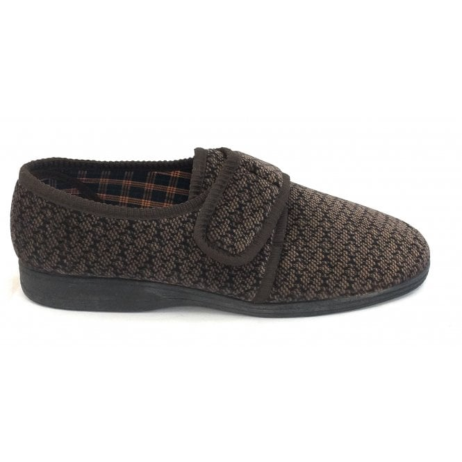 Goodyear Columbus Brown Velcro Slippers