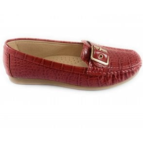 Cory Red Croc Print Loafer