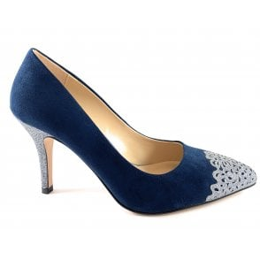 Crawford Navy and Pewter Glitz Court Shoe