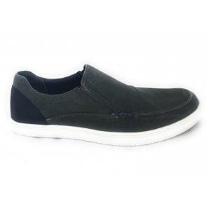 Crossley Grey Slip On Men's Canvas Shoe