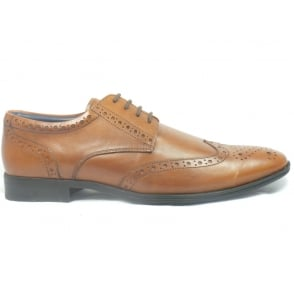 Curtis Mens Brown Leather Lace-Up Brogue