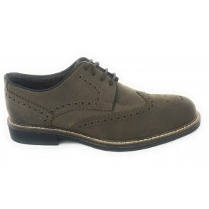 Danesfield Khaki Waxy Leather Lace-Up Brogue