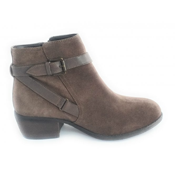 Lotus Dani Taupe Suede Ankle boot