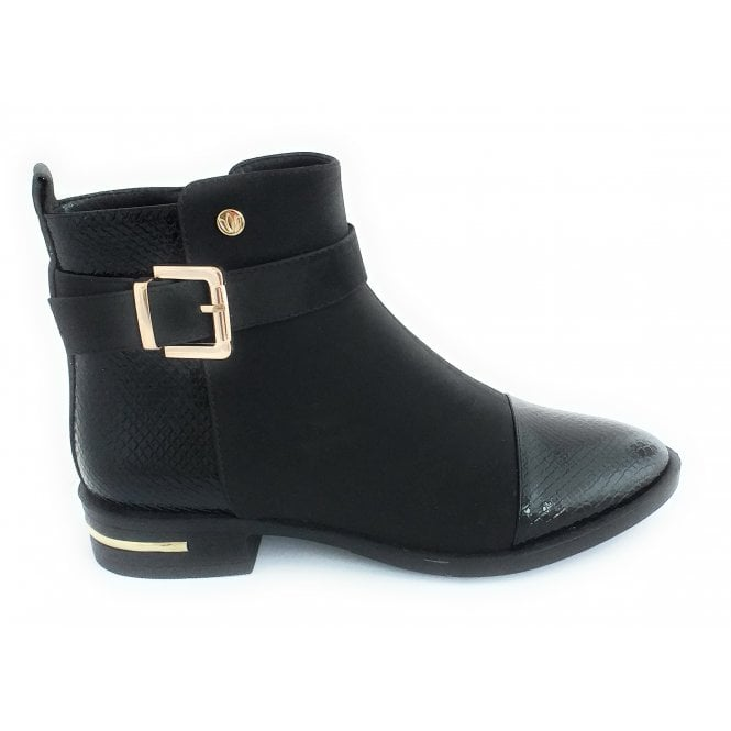 Lotus Daphne Black Ankle Boot