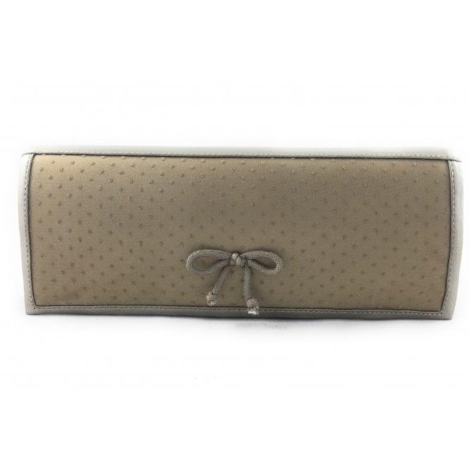 Lotus Dark Gold Clutch Bag
