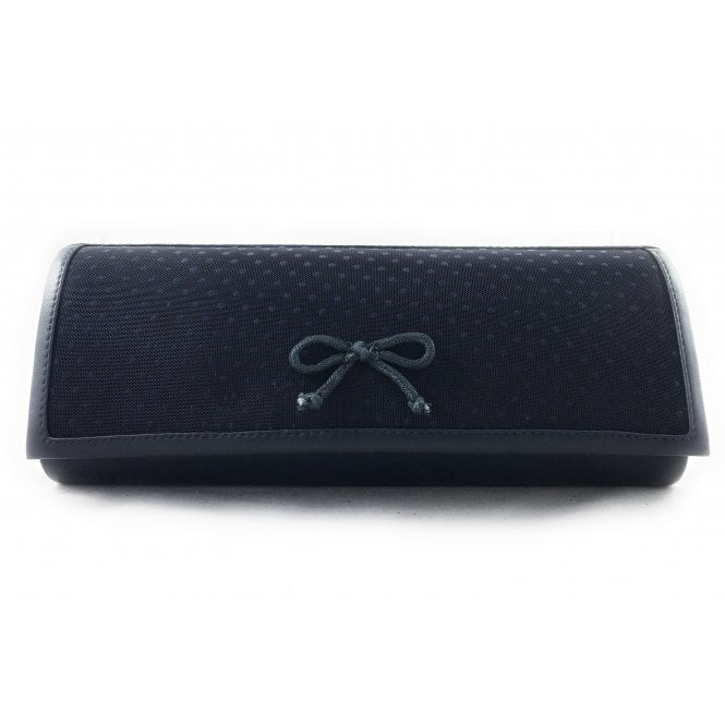 Lotus Dark Navy Clutch Bag