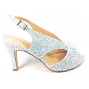 Dazzle Silver and Diamante Court Shoes