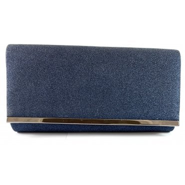Desiree Navy Glitz Clutch Bag