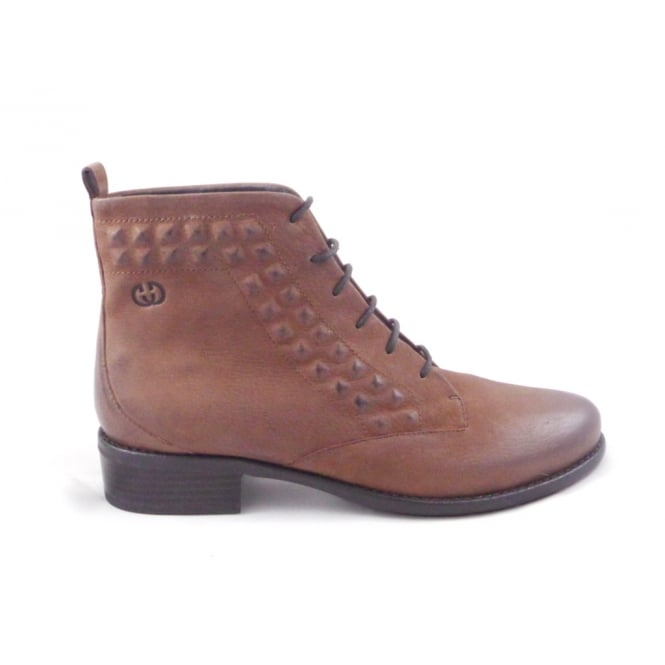 diane 18 brown leather lace up casual ankle boot from