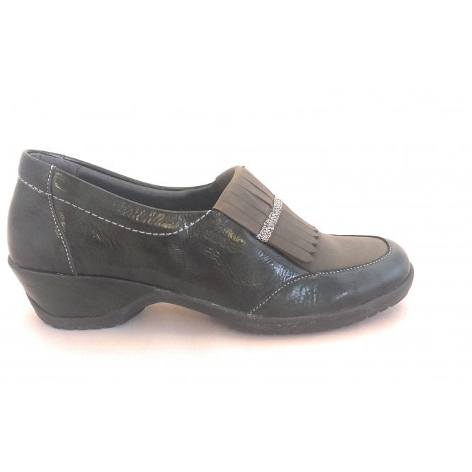 Suave Diane Dark Green Patent Loafer