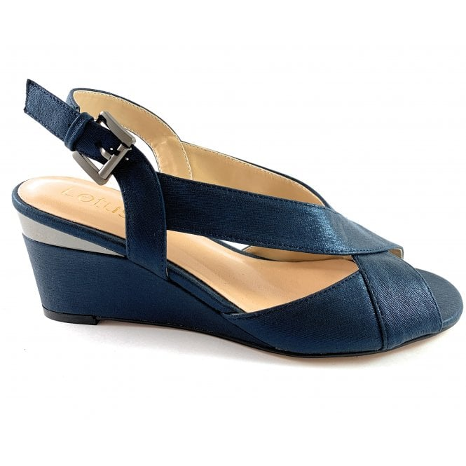 Dominica Navy Wedge