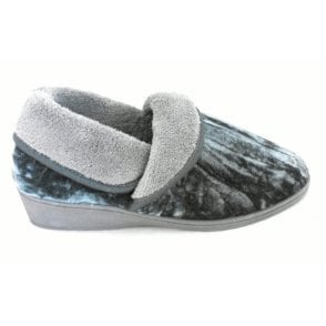 Doris Grey Full Slipper