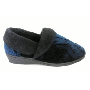 Doris Navy Full Slipper