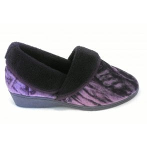 Doris Purple Full Slipper