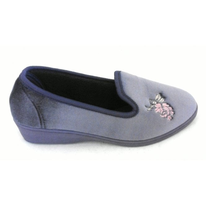 Lotus Dorothy Lavender Velour Slipper