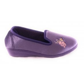Dorothy Lilac Velour Slipper