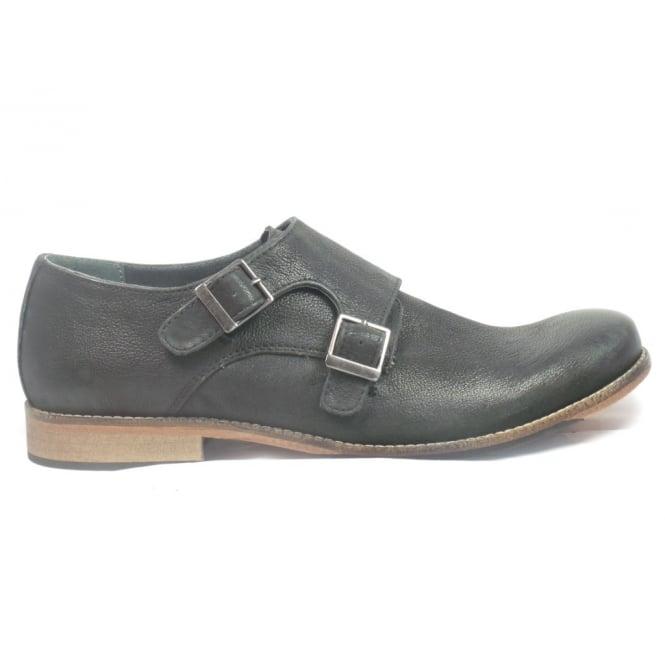Lotus Easton Black Leather Mens Slip-On Shoe