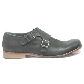Easton Black Leather Mens Slip-On Shoe