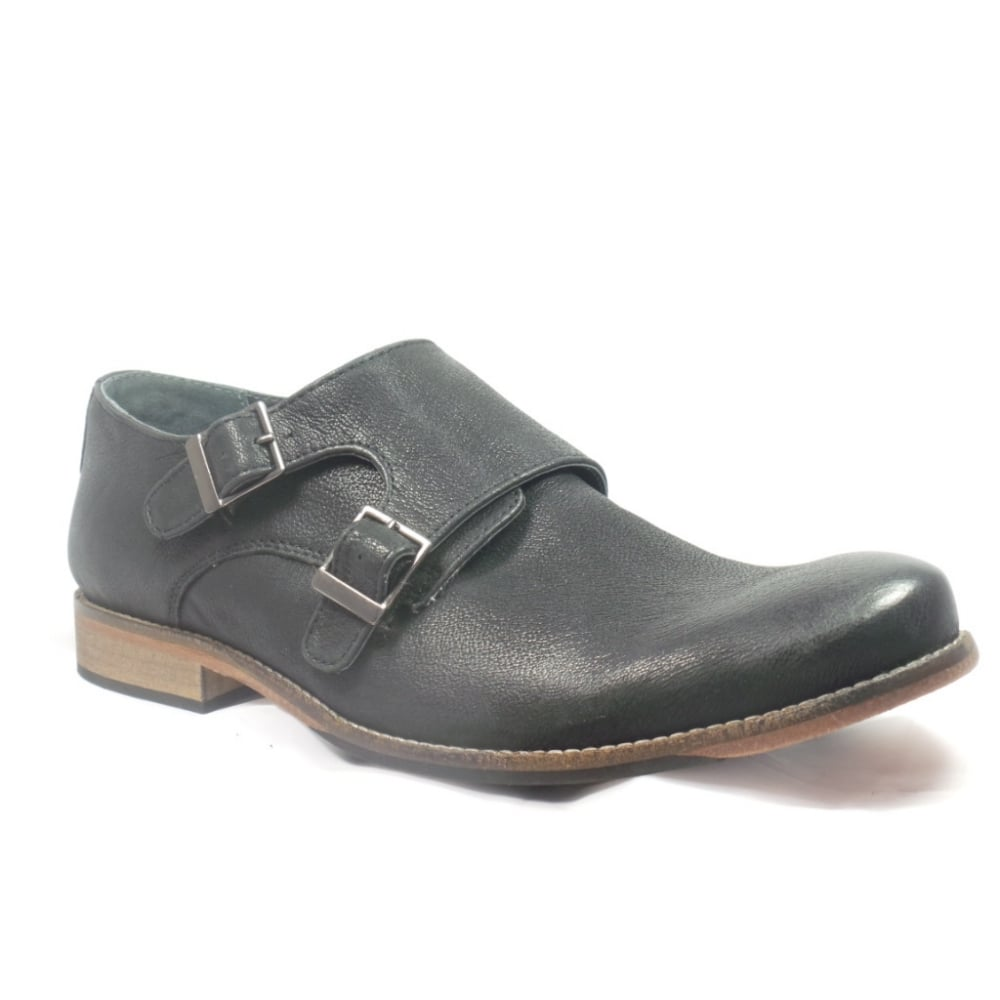 lotus easton black leather mens slip on shoe lotus from
