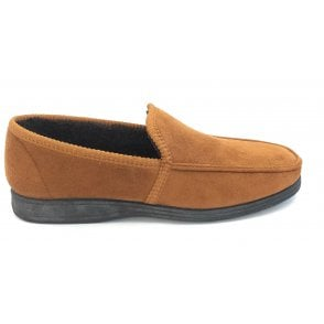 Eden Faux Suede Tan Slipper
