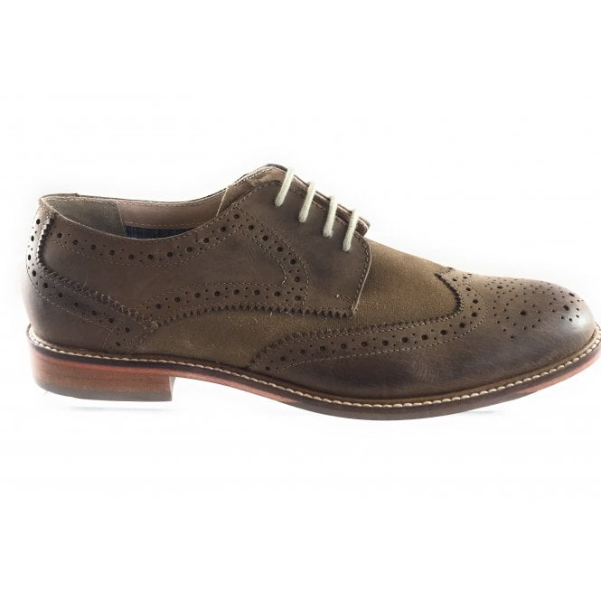 Lotus Edward Brown and Sand Lace-Up Brogue