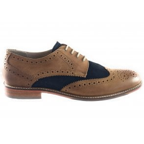 Edward Tan and Navy Lace-Up Brogue