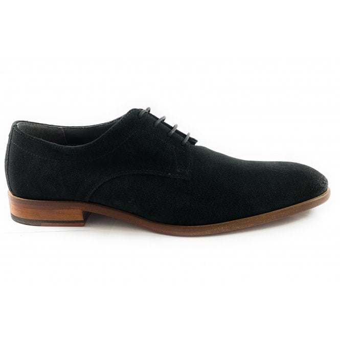 Elgar Black Suede Lace-Up Shoe