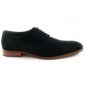 Elgar Black Suede Lace-Up Shoe