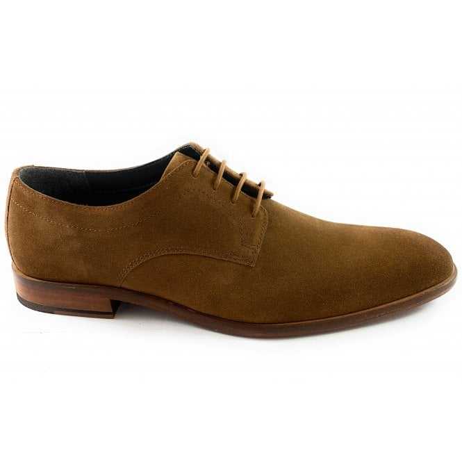 Elgar Tan Suede Lace-Up Shoe