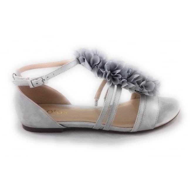Lotus Elise Silver Grey Open Toe Sandal