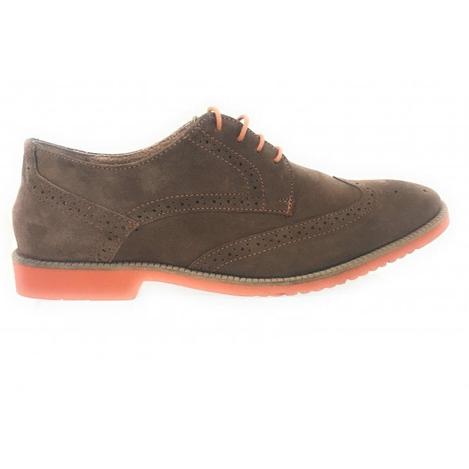 Lotus Ellison Light Brown Suede Brogue