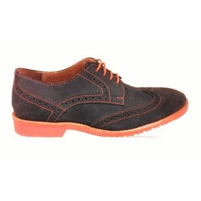 Ellison Navy Blue Suede Brogue