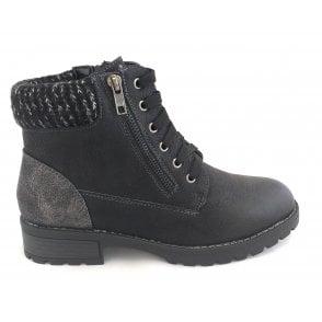 Emmeline Black Ankle Boots